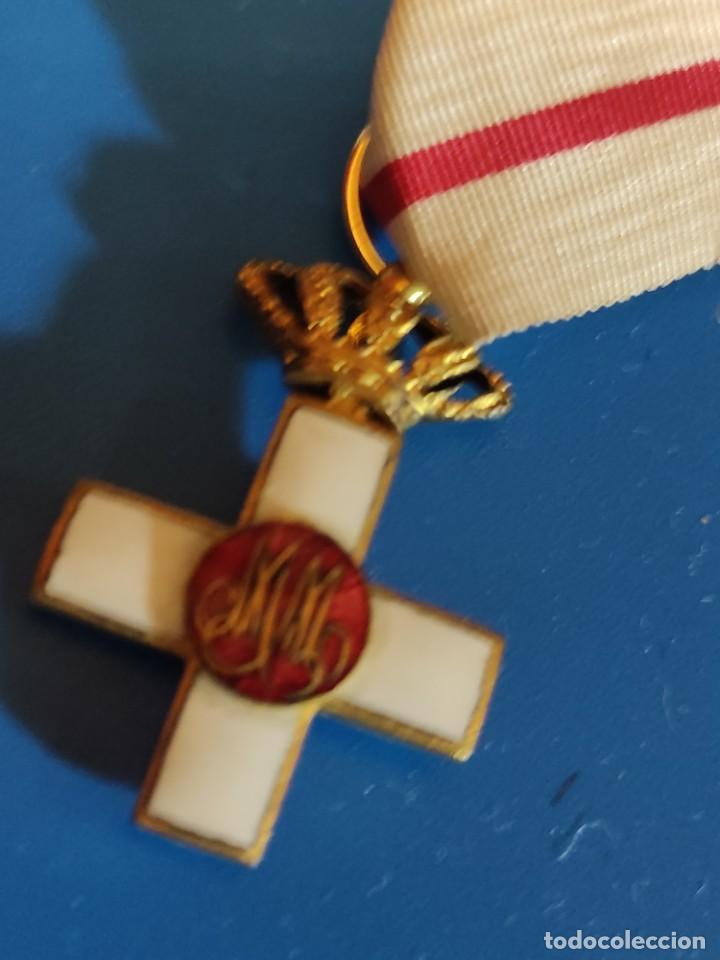 Militaria: Cruz de Merito Militar. Distintivo Blanco. Tamaño princesa. De 1860. - Foto 5 - 275933658