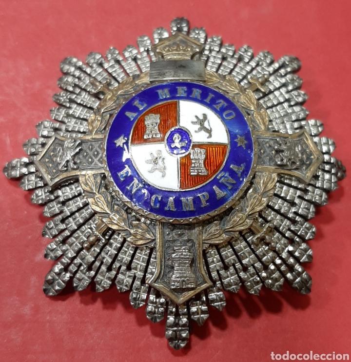 GUERRA CIVIL. PLACA CRUZ DE GUERRA AL MÉRITO EN CAMPAÑA. PLATA. (Militar - Medallas Españolas Originales )
