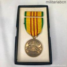 Militaria: ESTADOS UNIDOS USA MEDALLA POR SERVICIO EN LA GUERRA DEL VIETNAM, CON CAJA DE ORIGEN Y PASADOR. Lote 245774170