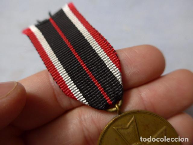 Militaria: * Antigua medalla alemana original, cruz de guerra sin espadas, II guerra mundial. Alemania. ZX - Foto 3 - 246569420