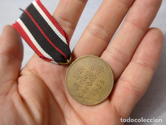 Militaria: * Antigua medalla alemana original, cruz de guerra sin espadas, II guerra mundial. Alemania. ZX - Foto 4 - 246569420