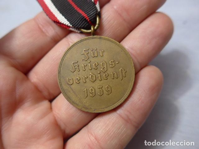 Militaria: * Antigua medalla alemana original, cruz de guerra sin espadas, II guerra mundial. Alemania. ZX - Foto 5 - 246569420