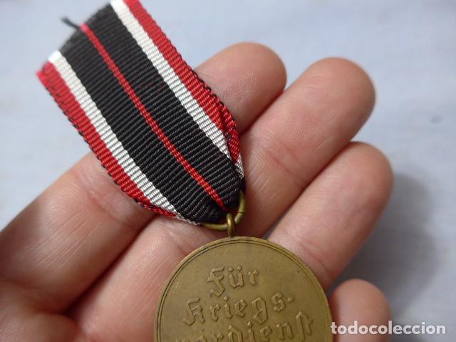Militaria: * Antigua medalla alemana original, cruz de guerra sin espadas, II guerra mundial. Alemania. ZX - Foto 6 - 246569420