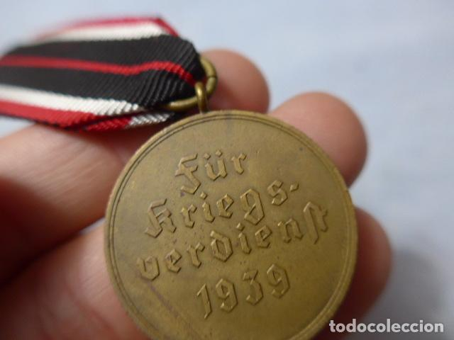 Militaria: * Antigua medalla alemana original, cruz de guerra sin espadas, II guerra mundial. Alemania. ZX - Foto 7 - 246569420