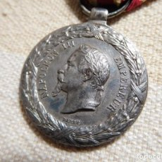 Militaria: FRANCIA. MEDALLA DE LA CAMPAÑA DE ITALIA 1859 NAPOLEON III PLATA. Lote 246903540