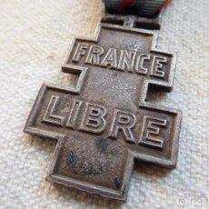 Militaria: FRANCIA. MEDALLA CONMEMORATIVA DE LOS SERVICIOS VOLUNTARIOS EN LA FRANCIA LIBRE 1ER MODELO. Lote 246952390