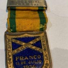 Militaria: MEDALLA MUTILADO DE GUERRA POR LA PATRIA - FRANCO 18/07/1936 - LLEVA NOMBRE DEL MUTILADO-. Lote 247754850