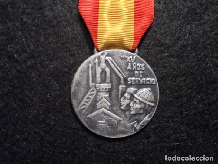 MEDALLA XV AÑOS DE SERVICIO EMPRESA NACIONAL SIDERÚRGICA. SIGLO XX (Militar - Medallas Españolas Originales )