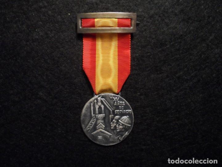 Militaria: MEDALLA XV AÑOS DE SERVICIO EMPRESA NACIONAL SIDERÚRGICA. SIGLO XX - Foto 2 - 248255050