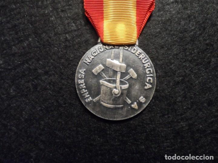 Militaria: MEDALLA XV AÑOS DE SERVICIO EMPRESA NACIONAL SIDERÚRGICA. SIGLO XX - Foto 3 - 248255050