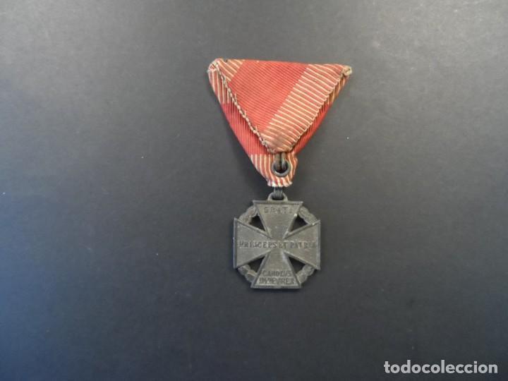 Militaria: MEDALLA CRUZ DE TROPA DEL EMPERADOR CARLOS I. KARL TRUPPENKREUZ. AUSTROHUNGARA. AÑO 1916 - Foto 4 - 248256390
