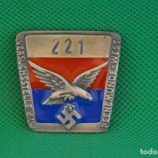 Militaria: PEENEMÜNDE BADGE-ALEMANIA 3-REICH. Lote 249120230