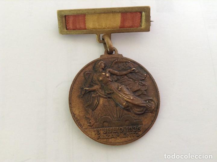 MEDALLA ALZAMIENTO 18 JULIO 1936 Y VICTORIA 1 ABRIL 1939 *** GUERRA CIVIL *** (Militar - Medallas Españolas Originales )