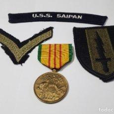 Militaria: MEDALLA Y DISTINTIVOS DEL EJERCITO DE ESTADOS UNIDOS.GUERRA DE VIETNAM. Lote 252755680
