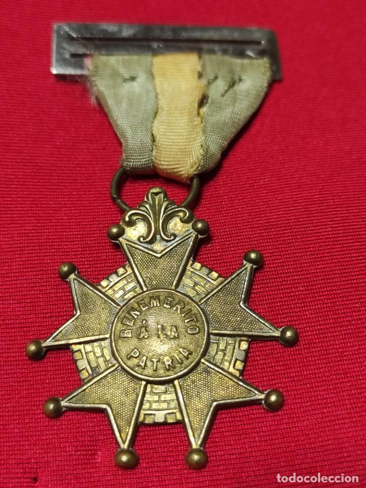 CRUZ DE BENEMÉRITO A LA PATRIA (Militar - Medallas Españolas Originales )
