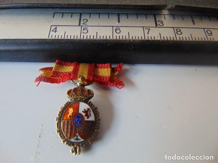 MINIATURA DE MEDALLA DE DIPUTADO, CONGRESO DE LOS DIPUTADOS ALFONSINA ?? (Militar - Medallas Españolas Originales )