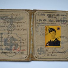 Militaria: AUSWEIS SS PANZER DIVISION WIKING. Lote 253412235