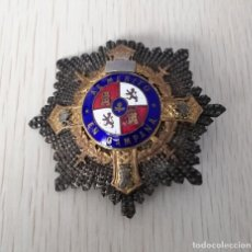 Militaria: ANTIGUA PLACA CRUZ DE GUERRA AL MERITO EN CAMPAÑA - PRINCIPIOS DE LOS AÑOS 40, MIDE 6 CMS. DE DIAMET. Lote 253952585