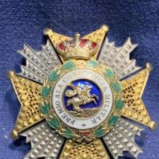 Militaria: PLACA GRAN CRUZ REAL MILITAR ORDEN SAN HERMENEGILDO PREMIO CONSTANCIA MILITAR CORNONA GENERAL 7X7CMS. Lote 257976190