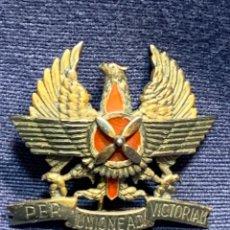 Militaria: INSIGNIA AVIACION DISTINTIVO COOPERACIÓN AEROTERRESTRE PER UNIONE AD VICTORIAM NUMERADA 3,5X3,5CMS. Lote 257978490