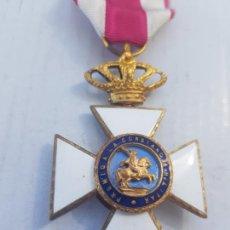 Militaria: CRUZ DE LA ORDEN DE SAN HERMENEGILDO 3 PIEZAS ESMALTES BIEN ANTIGUA F VII. Lote 258151230