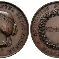 Militaria: MEDALLA ISABEL II 1857 EXPOSICIÓN DE AGRICULTURA S/C-. Lote 259851970