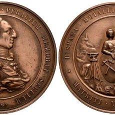 Militaria: MEDALLA ALFONSO XII 1877 A CARLOS III CONMEMORACION DEL CENTENARIO EBC. Lote 259853445