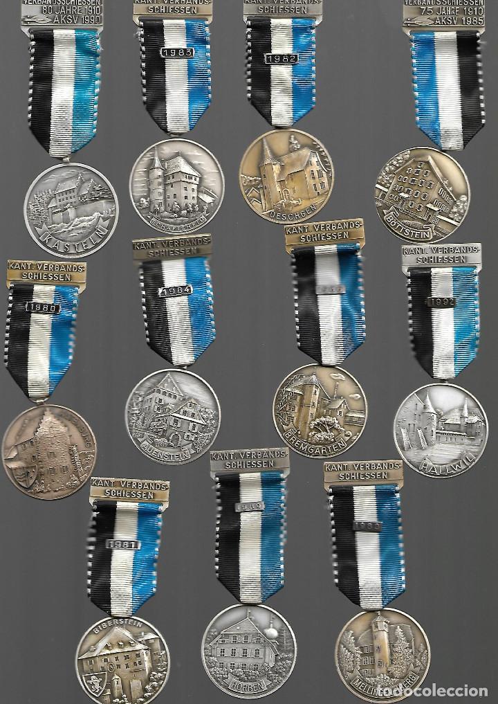 BONITA COLECCION ANTIGUA DE MEDALLAS DE CIUDADES EN PERFECTO ESTADO (Militar - Medallas Internacionales Originales)