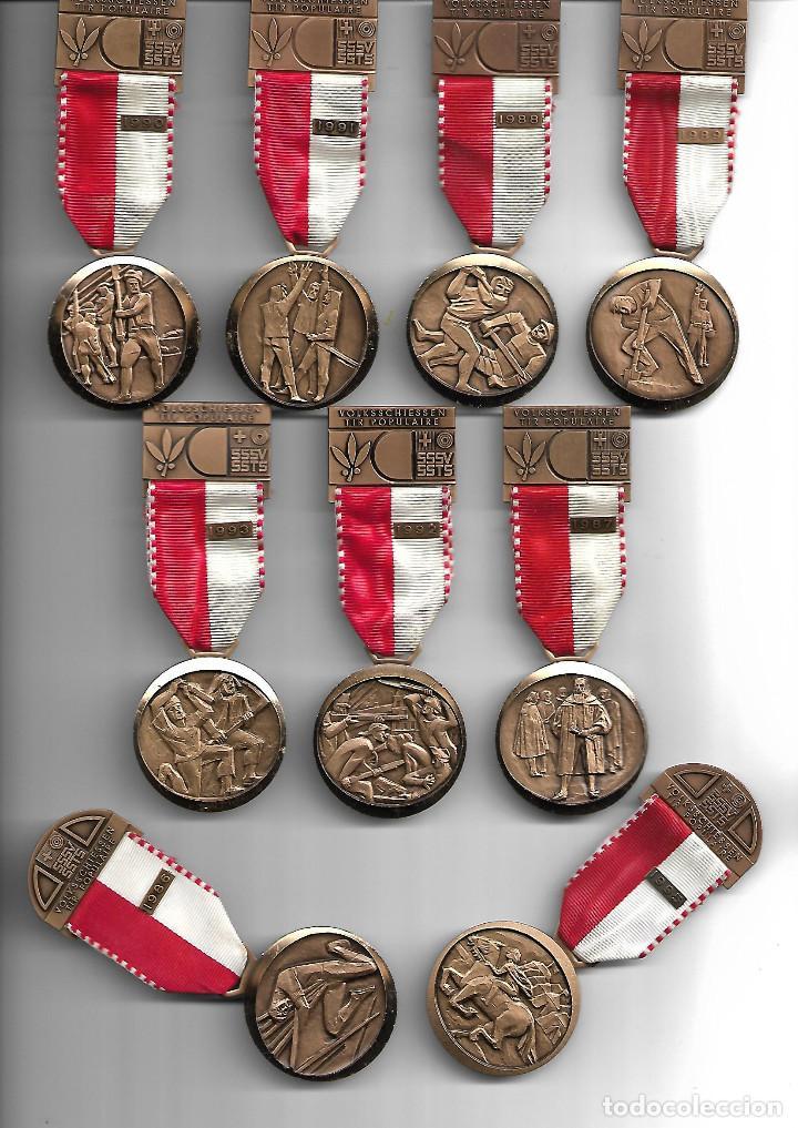 BONITA COLECCION ANTIGUA DE MEDALLAS DE GUERREROS EN PERFECTO ESTADO (Militar - Medallas Internacionales Originales)