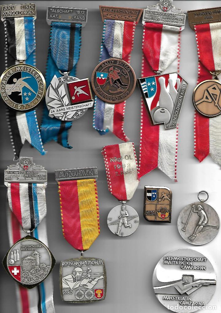 BONITA COLECCION ANTIGUA DE MEDALLAS DE DISTINTOS DEPORTES EN PERFECTO ESTADO (Militar - Medallas Internacionales Originales)