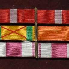 Militaria: PASADOR DE 12 CINTAS DE LA GUERRA CIVIL Y CAMPAÑA DEL RIF, MIDE 13,3 X 4 CMS. SON LAS SIGUIENTES:. Lote 260809945