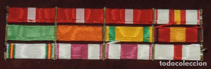 Militaria: PASADOR DE 12 CINTAS DE LA GUERRA CIVIL Y CAMPAÑA DEL RIF, MIDE 13,3 X 4 CMS. SON LAS SIGUIENTES: - Foto 2 - 260809945