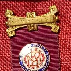 Militaria: ORIGINAL 1935 - MEDALLA MASON - GRAN LOGIA MASONICA INGLATERRA. ORDEN OF BUFFALOES. Lote 261261810