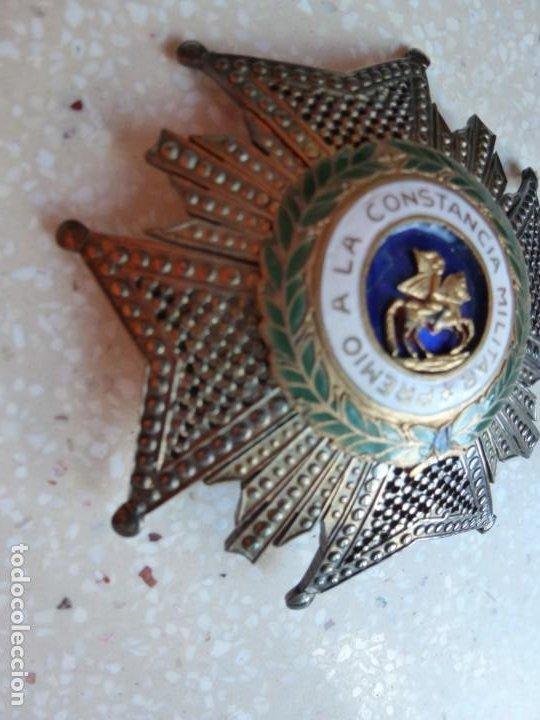 Militaria: Alfonso XIII. Premio Medalla Placa a la Constancia Militar. San Hermenegildo. Plata. - Foto 2 - 262427010