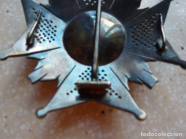 Militaria: Alfonso XIII. Premio Medalla Placa a la Constancia Militar. San Hermenegildo. Plata. - Foto 3 - 262427010