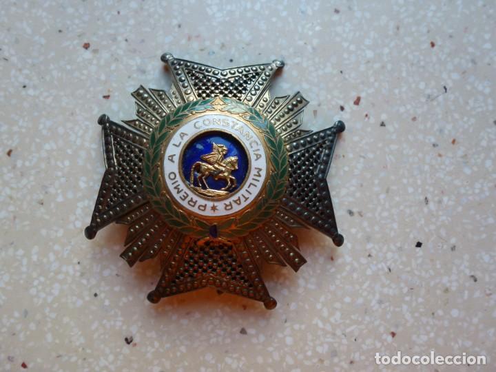Militaria: Alfonso XIII. Premio Medalla Placa a la Constancia Militar. San Hermenegildo. Plata. - Foto 4 - 262427010