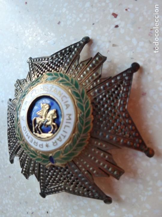 Militaria: Alfonso XIII. Premio Medalla Placa a la Constancia Militar. San Hermenegildo. Plata. - Foto 6 - 262427010