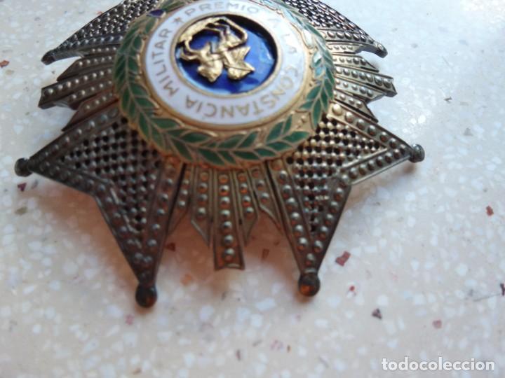 Militaria: Alfonso XIII. Premio Medalla Placa a la Constancia Militar. San Hermenegildo. Plata. - Foto 9 - 262427010