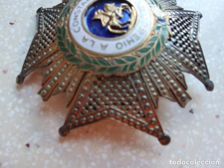 Militaria: Alfonso XIII. Premio Medalla Placa a la Constancia Militar. San Hermenegildo. Plata. - Foto 10 - 262427010