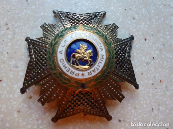 ALFONSO XIII. PREMIO MEDALLA PLACA A LA CONSTANCIA MILITAR. SAN HERMENEGILDO. PLATA. (Militar - Medallas Españolas Originales )