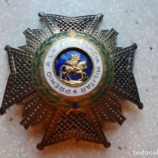 Militaria: ALFONSO XIII. PREMIO MEDALLA PLACA A LA CONSTANCIA MILITAR. SAN HERMENEGILDO. PLATA.. Lote 262427010