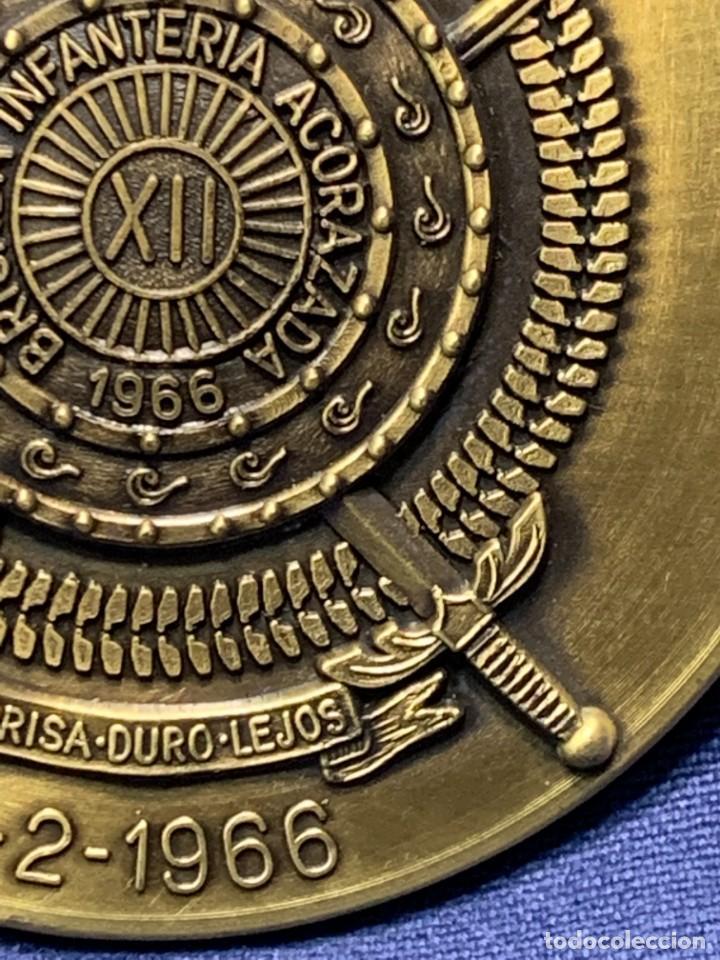 Militaria: MEDALLA XXV ANIVERSARIO BRIAC BRIGADA DE INFANTERIA ACORAZADA XII 1966 1991 APRISA DURO LEJOS 8CMS - Foto 4 - 262440935