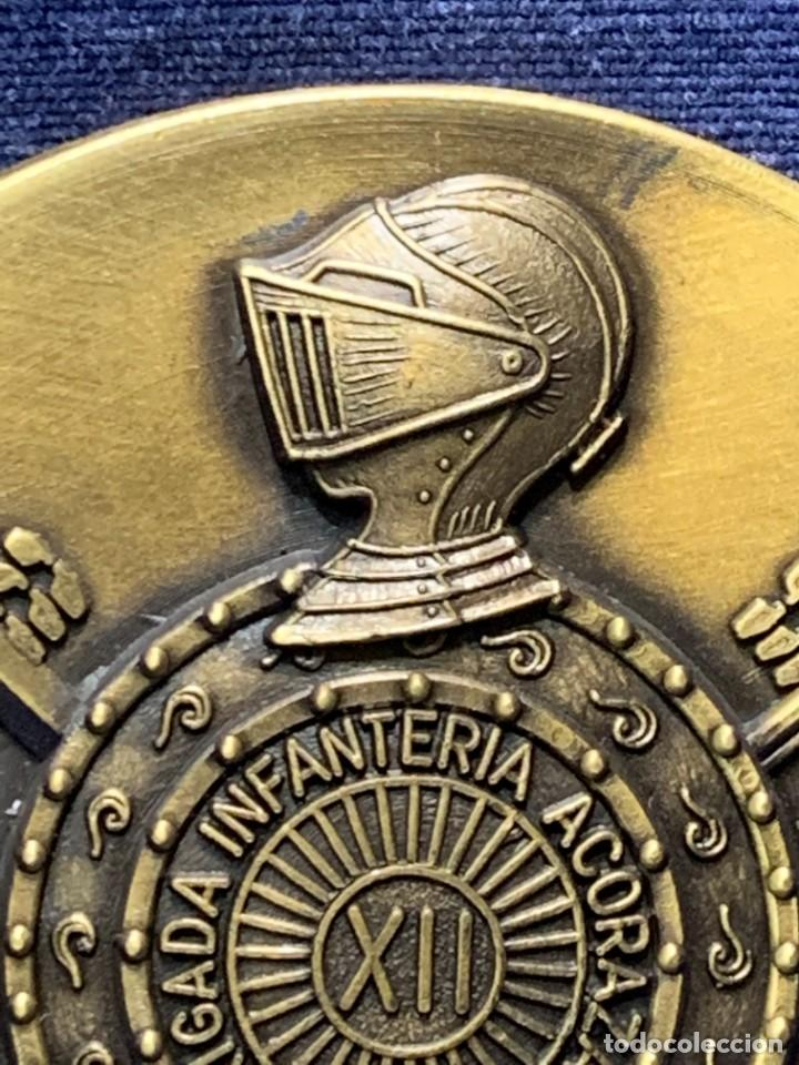 Militaria: MEDALLA XXV ANIVERSARIO BRIAC BRIGADA DE INFANTERIA ACORAZADA XII 1966 1991 APRISA DURO LEJOS 8CMS - Foto 7 - 262440935
