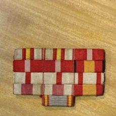 Militaria: PASADOR PECHO MERITO MILITAR BLANCO ROJO PENSIONADA GUERRA CIVIL FRANCO 6X9CMS. Lote 262445200