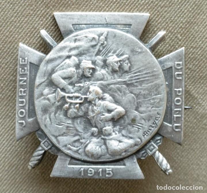 PLACA FRANCESA. HOMENAJE A LOS ''POILUS''. DE LA PRIMERA GUERRA MUNDIAL. 1915. (Militar - Medallas Internacionales Originales)