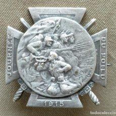 Militaria: PLACA FRANCESA. HOMENAJE A LOS ''POILUS''. DE LA PRIMERA GUERRA MUNDIAL. 1915.. Lote 262942810