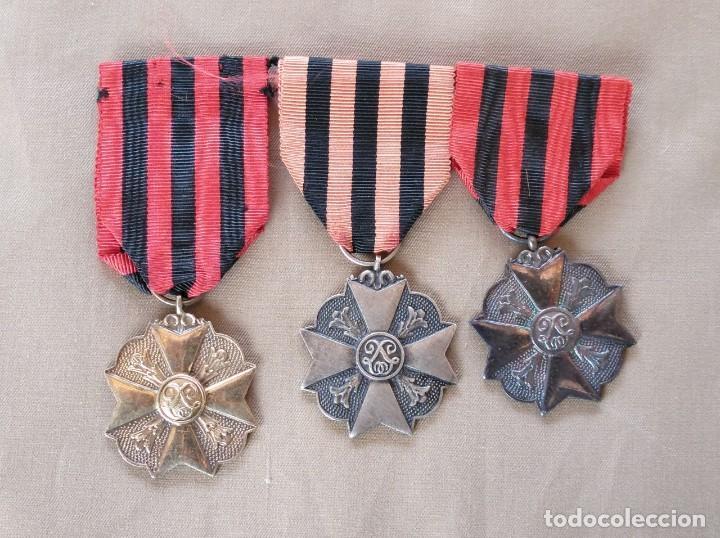MEDALLAS BELGAS EN SUS TRES CATEGORÍAS, ORO,PLATA,BRONCE. (Militar - Medallas Internacionales Originales)
