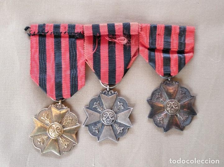Militaria: MEDALLAS BELGAS EN SUS TRES CATEGORÍAS, ORO,PLATA,BRONCE. - Foto 2 - 262943170