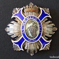 Militaria: PLACA AL MÉRITO CIVIL. PERFECTO TRABAJO DE JOYERÍA EN PLATA Y ESMALTES. ÉPOCA DE FRANCO.. Lote 66136562