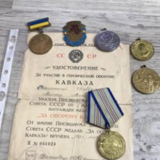 Militaria: MEDALLA POR DEFENSA DE CAUCASO URSS + COSAS. Lote 264103930
